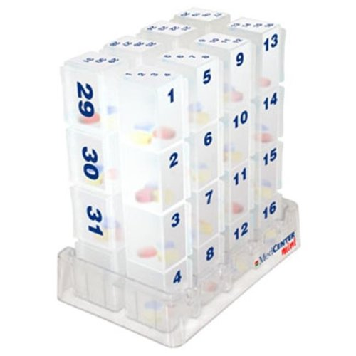 MedCenter 70324 31 Day Compact Monthly Pill Organizer