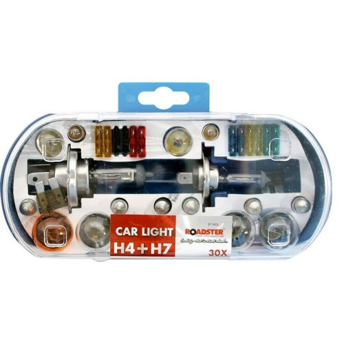 H4 & H7 Replacement Light Bulbs and Fuse Set 30pc Kit Van Car Motor Bike