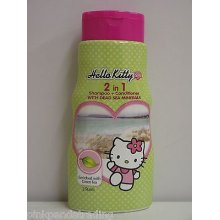 2 x HELLO KITTY 2 IN 1 SHAMPOO & CONDITIONER WITH DEAD SEA MINERALS & GREEN TEA