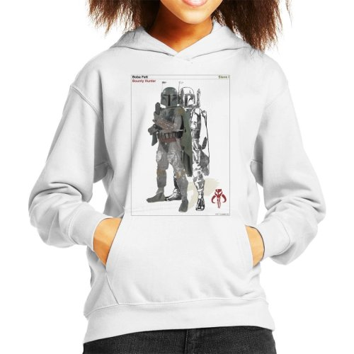 Star Wars Boba Fett Bounty Hunter Slave I Kid's Hooded Sweatshirt