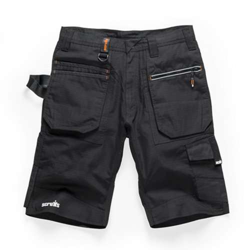 Scruffs Ripstop Trade Cargo Black Work Shorts