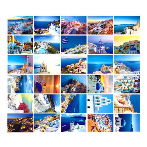 Artistic Beautiful 30 PCS 1 Set vintage Retro Postcards,Island