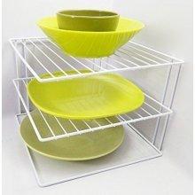 3 Tier Plate Organiser | Kitchen Cupboard Plate Rack
