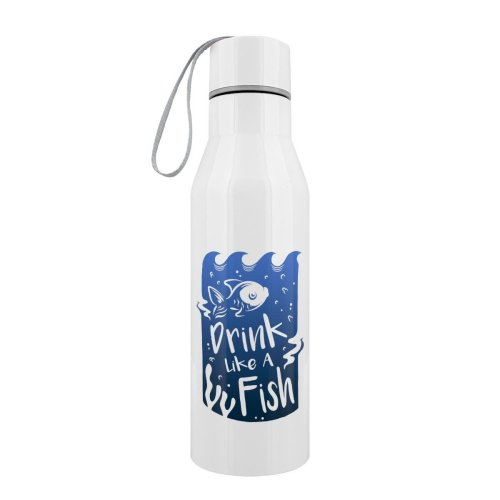 Grindstore Drink Like A Fish Stainless Steel Water Bottle