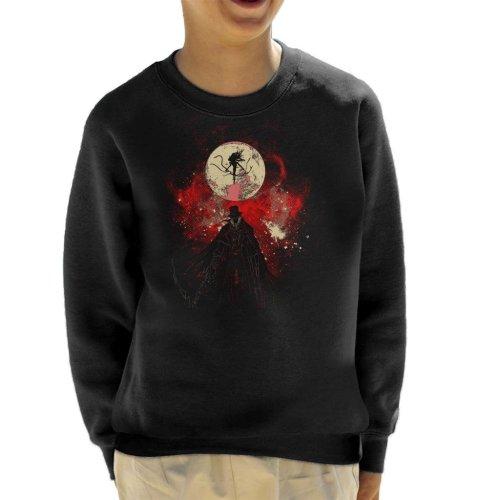 Moon Presence Silhouette Bloodborne Kid's Sweatshirt