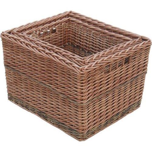 Set of 3 Somerset Rectangular Log Baskets