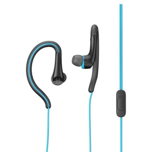Motorola MO-SH008BL 3.5 mm Hands Free Earbuds Sport Water Resistant IPX4 with Remote & Mic - Blue