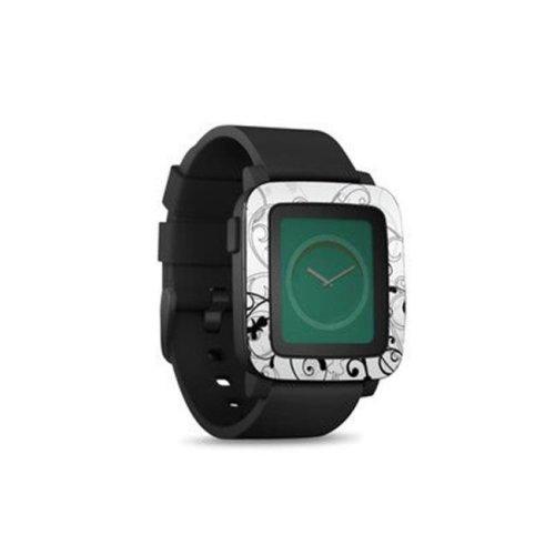 DecalGirl PSWT-WB-FLEUR Pebble Time Smart Watch Skin - W&B Fleur