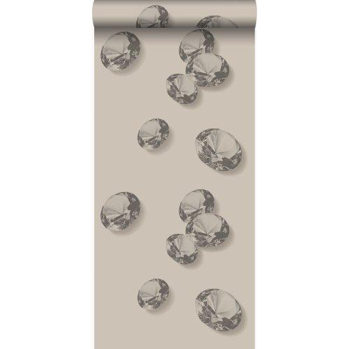 Wallpaper Diamonds Gray And Black 326334 From Origin Luxury Wallcoverings