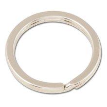 Flat Keyring 1 1/4in Nfp -  flat keyring 1 14in nfp nickel plate 10 pk leathercraft tandy