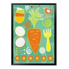 DIY Kids Digital Oil Painting Color Palette Linen Painting Set Carrot 30x40cm