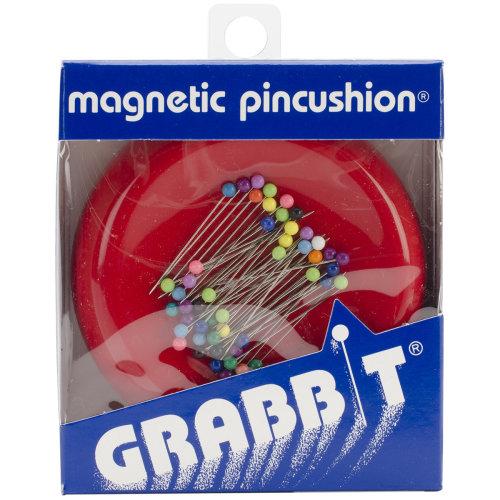 Grabbit Magnetic Pincushion W/50 Pins-Red