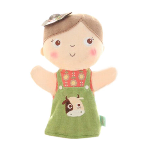 Lovely Kid's Glove Puppet Hand Dolls With Dairy Cow Pattern, Boy