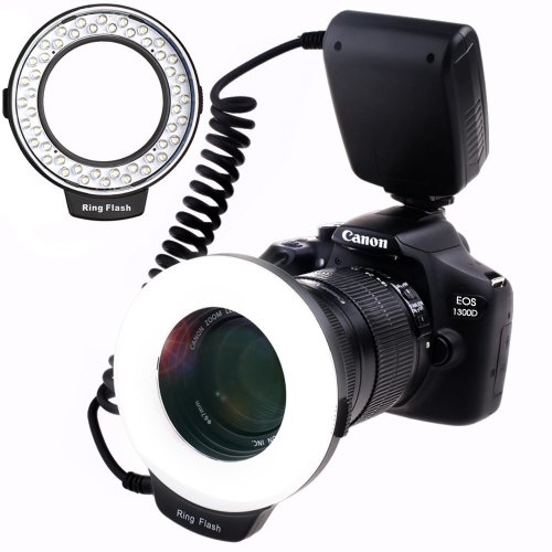 SAMTIAN RF-550D 48 Marco LED Flash Ring Light for Canon, Nikon, Panasonic, Olympus, Pentax SLR Cameras (will Fit 49, 52, 55, 58, 62, 67, 72, 77m...