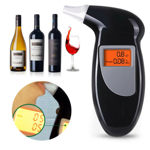 Police Breath Alcohol Tester Self Digital Analyzer Detector Breathalyser UK Sell
