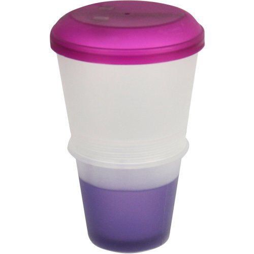 Cereal To Go Milk Breakfast Stay Freeze On The Go Snack Healthy Eat Meal Box[Purple]