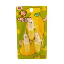 Interesting Banana Modeling Erasers Creative Student Supplies 4Pcs