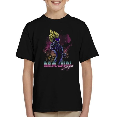 Retro Majin Saiyan Dragon Ball Z Kid's T-Shirt