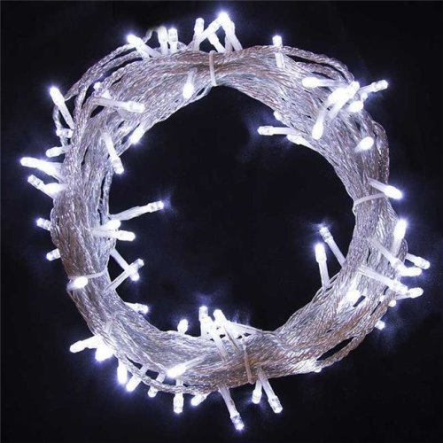 White String Christmas Lights.Aleko 2el100ledwcwh Unb 34 Ft 100 Led Electric Powered White String Extendable Light Christmas Holiday Lot Of 2