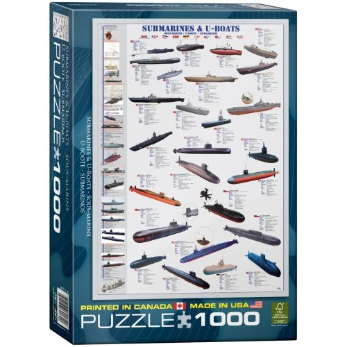Eg60000132 - Eurographics Puzzle 1000 Pc - Submarines & U-boats