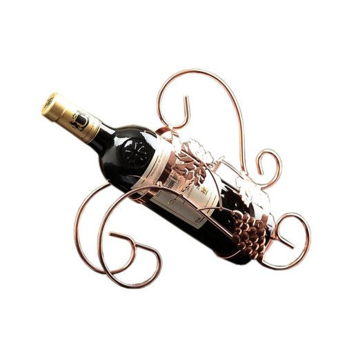 [Grape Leaf] Ironwork Creative Wine Rack Storage Organizer Display Holder