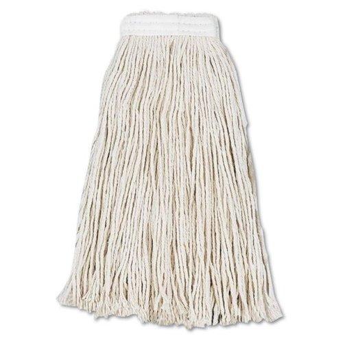 Boardwalk BWK2016CCT 16 oz Cut-End Wet Cotton Mop Head - White, 12 per Case