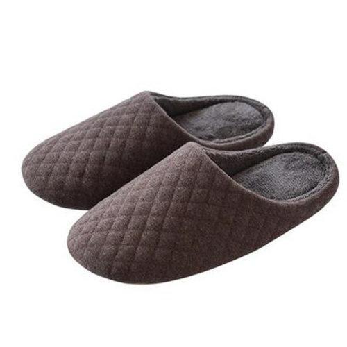 Japanese Men's Winter Warm & Cozy  Indoor Shoes House Slipper, Brown