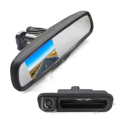 Vardsafe Reverse Backup Camera + Replacement Rear View Mirror Monitor for Ford Focus 2012 2013 2014