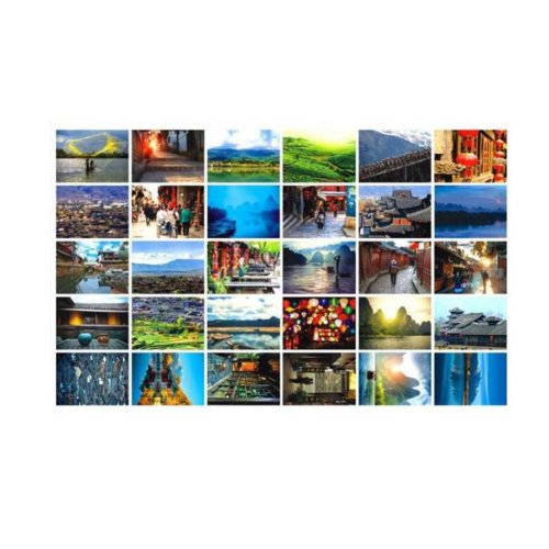 Lijiang Scenery Collection Set Postcard Hand Set Painting Greeting Card