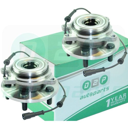 2x REAR WHEEL BEARING HUB + ABS FOR LAND ROVER DISCOVERY 2 2.5 TD5 4.0 V8 (PAIR)