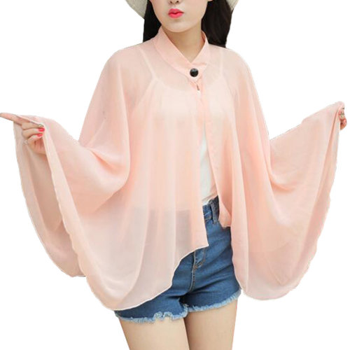 Sun Protective Clothing - Summer Chiffon Shawl Beach Coats Jackets#01