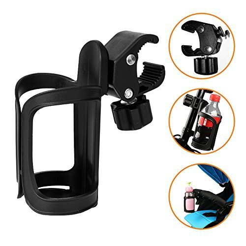 AOBETAK Bike Bottle Holder, Black Bicycle Cup Holder 360 Degrees Rotation Cycling Water Bottle Cages; fit Bicycles, Mountain Bikes, Prams and...