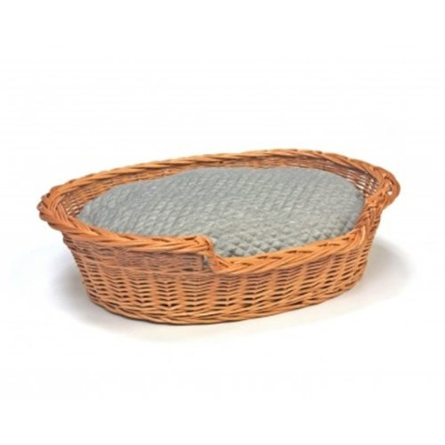 Small Willow Dog Cat Pet Wicker Basket Soft Cushion