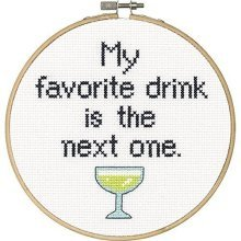 Dimensions Needlecrafts 70-74630 Say It Counted Cross Stitch Kit, Favorite -  say favorite drink counted cross stitch kit6 round 14