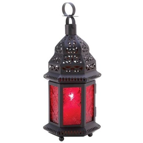 Red Moroccan Candle Lantern