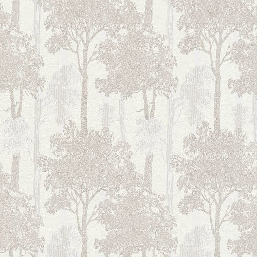 Erismann Countryside Forest Pattern Wallpaper Trees Wood Motif Textured Glitter 5965-02