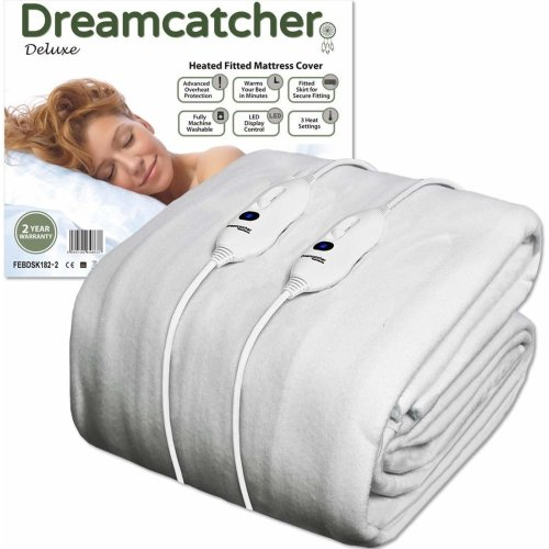 Dreamcatcher Super King Size Electric Blanket Luxury Polyester, SuperKing Size Bed 203 x 182cm Heated Blanket