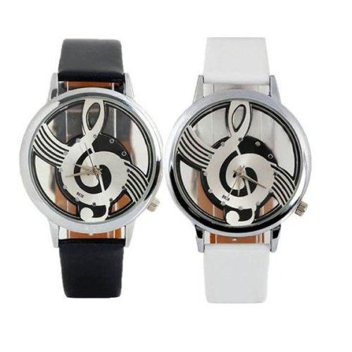 Faux Leather Music Pitch Watch | Treble Clef Wrist Watch