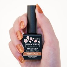 Magic Hana One Step UV LED Gel Polish Glitter Orange?107 New Year