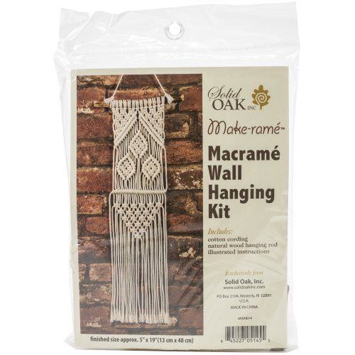 Small Format Macrame Kit-Three Leaves