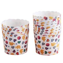 100PCS Home Baking Paper Cups Cupcakes Cases Cupcakes Cup, Cute Elephant Pattern