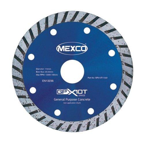 Mexco GPX10T 115mm General Purpose Turbo Concrete Diamond Blade
