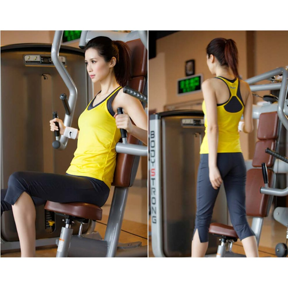 bb73309bcbcd ... Yellow Sexy Yoga Apparel Sexy Yoga Pant Gym Clothes Dance Outfit Fitness  Suit - 1. >