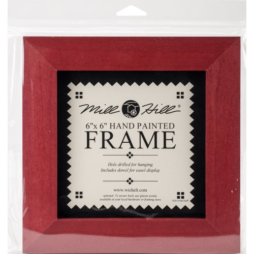 """Wooden Frame 6""""X6""""-Holiday Red"""
