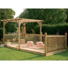 4.8 x 2.4m Deck Kit Including Pergola Ultima by Forest Garden