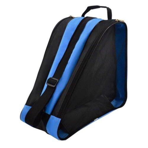 Children Ice Skate Backpack Skate Roller Carry Bag Skate Blue