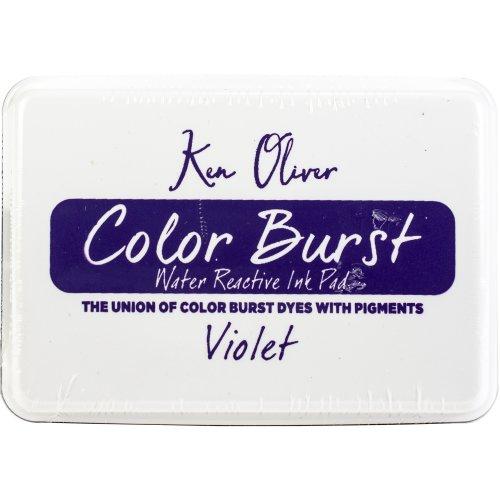 """Ken Oliver Color Burst 3.75""""X2.5"""" Stamp Pad-Violet"""
