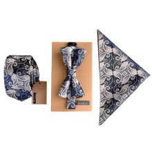 Fashion Formal/Informal Ties Set, Necktie/Bow Tie/Pocket Square Necktie Knots