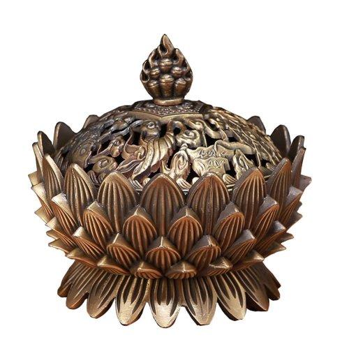 Auspicious Sandalwood Incense Burner Stove Vaporizer Tea Room Temple Ornaments