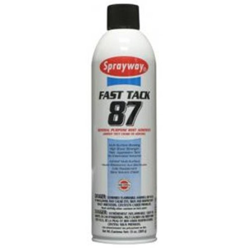 Sprayway 87 13 oz. Tan Spray Can Fast Tack Mist Adhesive   Pack of 12